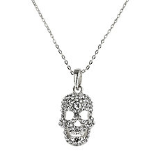 Mikey White Diamante Skull Necklace - Product number 1356364