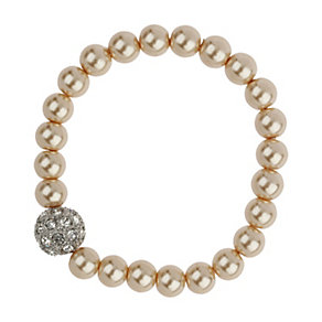 Mikey Cream Imitation Pearl & Crystal Ball Bracelet - Product number 1356372