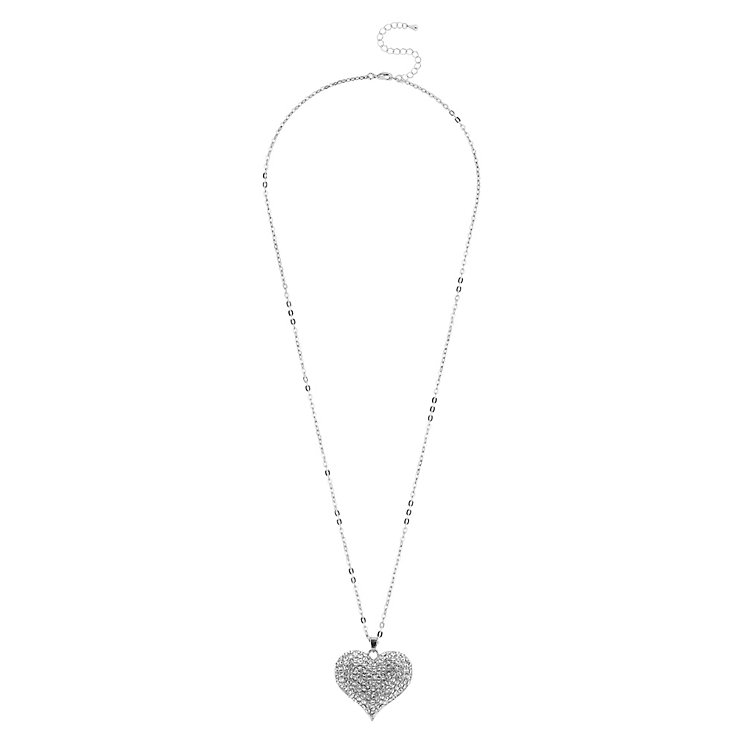 Mikey White Crystal Heart Long Pendant - Product number 1356410