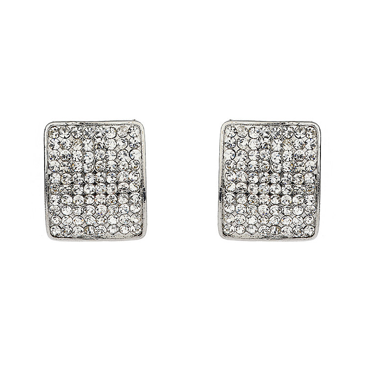 Mikey White Crystal Square Stud Earrings - Product number 1356488