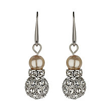Mikey Cream Imitation Pearl & Crystal Drop Earrings - Product number 1356593