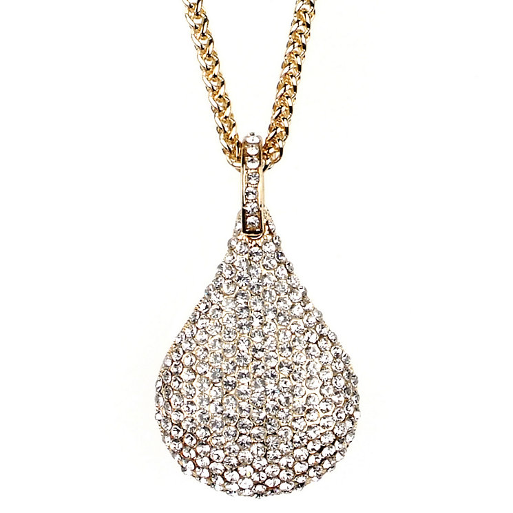 Mikey Yellow Crystal Pear Long Necklace - Product number 1356690