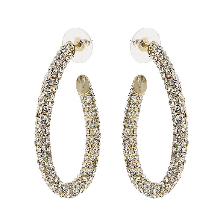 Mikey Yellow Crystal Hoop Earrings - Product number 1356720