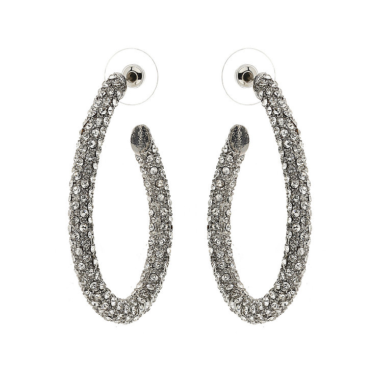Mikey White Crystal Hoop Earrings - Product number 1356739