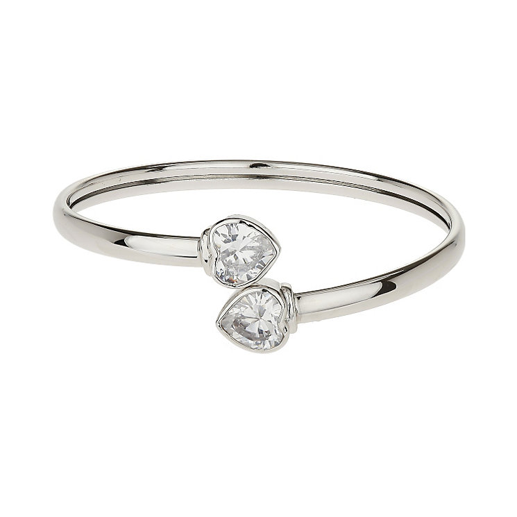 Mikey White Crystal Heart Bangle - Product number 1356771