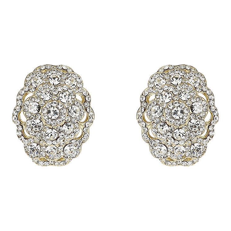 Mikey Yellow Crystal Oval Clip On Earrings - Product number 1356801