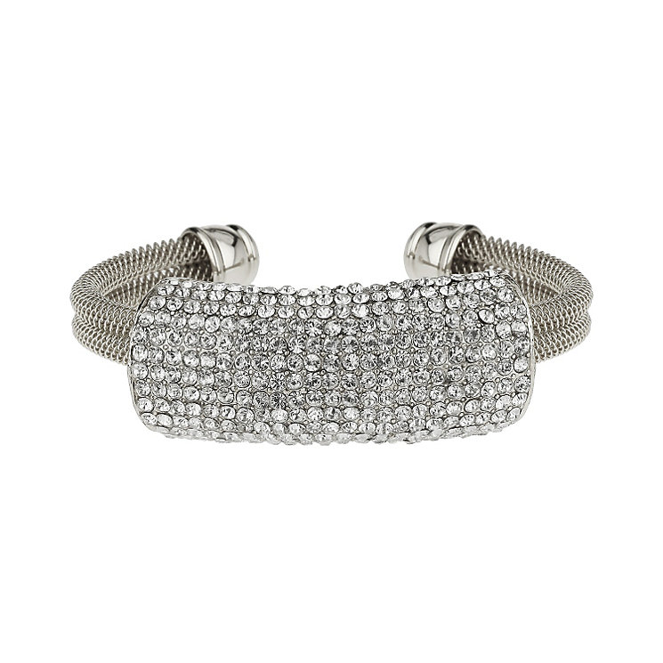 Mikey White Mesh Crystal Bangle - Product number 1356925