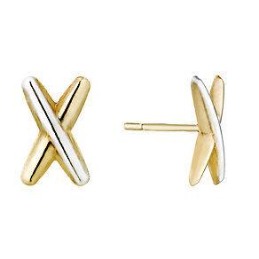 9ct Gold Cross Stud Earrings - Product number 1357662