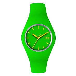 Ice-Watch Ladies' Green & Yellow Silicone Strap Watch - Product number 1359029