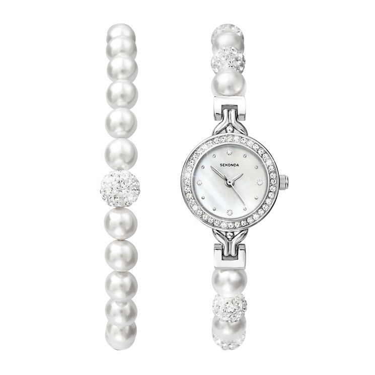 Sekonda Crystal & Pearl Bracelet & Bracelet Watch - Product number 1359126
