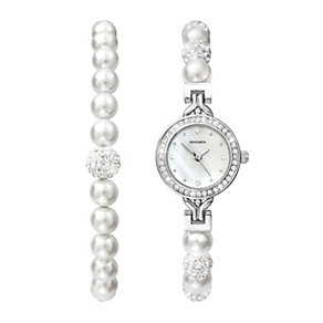 Sekonda Crystal & Pearl Bracelet & Bracelet Watch - Product number 1359126