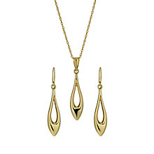 Together Bonded Silver & 9ct Gold Drop Earrings & Pendant - Product number 1359274