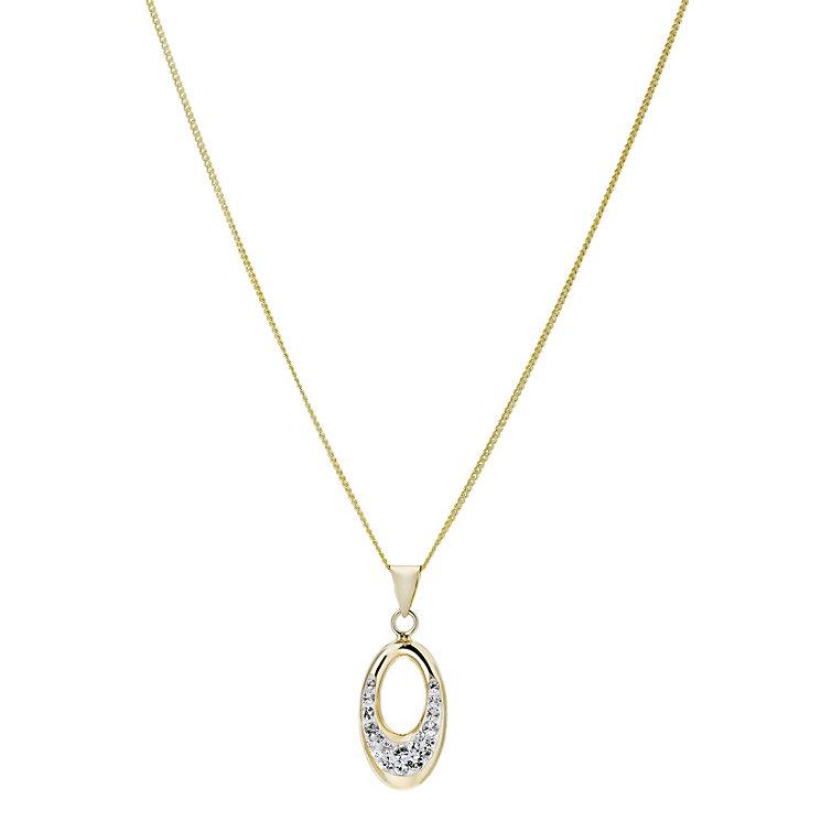 Evoke Silver & 9ct Gold-Plated Swarovski Elements Pendant - Product number 1359347