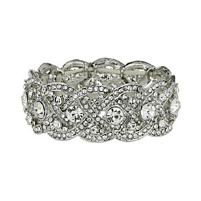 Mikey White Elastic Crystal Bracelet - Product number 1359495