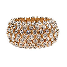 Mikey Yellow Scattered Crystal Elastic Bracelet - Product number 1359614