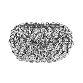 Mikey White Scattered Crystal Elastic Bracelet - Product number 1359622