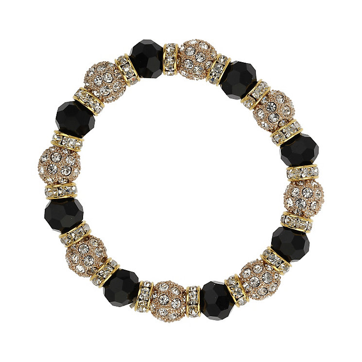 Mikey Yellow & Black Crystal Elastic Bracelet - Product number 1359835