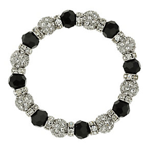 Mikey White & Black Crystal Elastic Bracelet - Product number 1359843