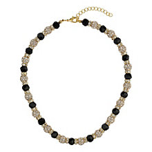 Mikey Yellow & Black Crystal Necklace - Product number 1359878