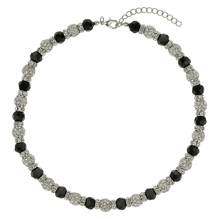 Mikey White & Black Crystal Necklace - Product number 1359886