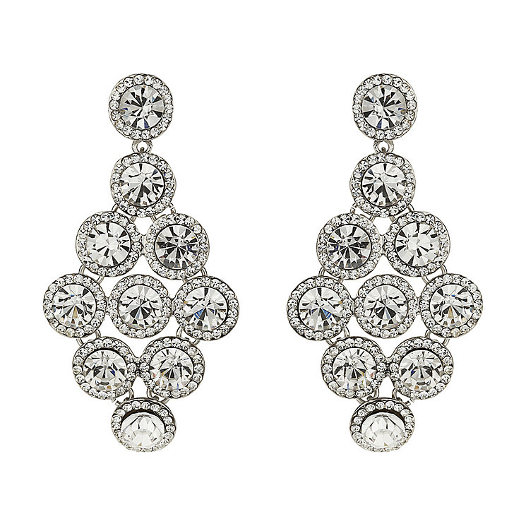 Mikey White Crystal Drop Earrings - Product number 1359983