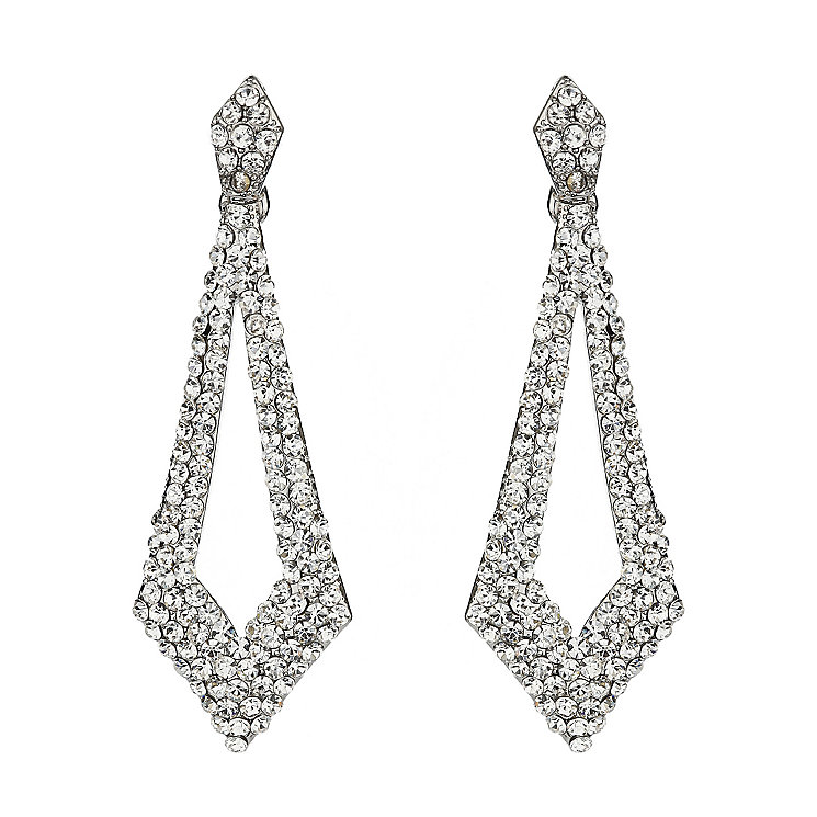 Mikey White Diamond Cut Out Crystal Drop Earrings - Product number 1360043