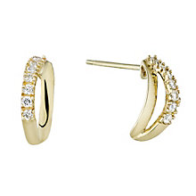 9ct Gold Cubic Zirconia Split Wedding Earrings - Product number 1361600