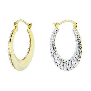 Evoke Silver & 9ct Gold With Swarovski Elements Earrings - Product number 1361619