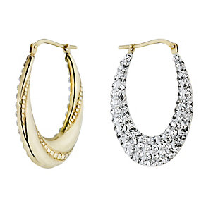 Evoke Silver & 9ct Gold With Swarovski Elements Earrings - Product number 1361627
