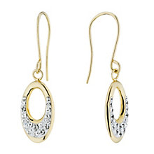 Evoke Silver & 9ct Gold With Swarovski Elements Earrings - Product number 1361635