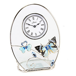 Juliana Blue Butterfly Oval Clock - Product number 1361716