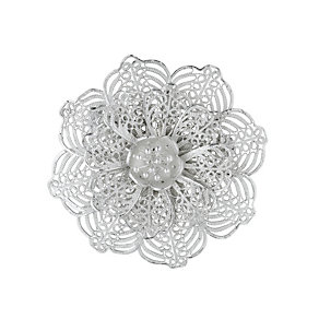 Petali Di Amore Sterling Silver Flower Brooch - Product number 1361783