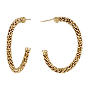 Gold-Plated Popcorn Hoop Earrings - Product number 1361821