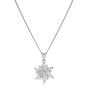 Sterling Silver Small Flower Pendant - Product number 1361899