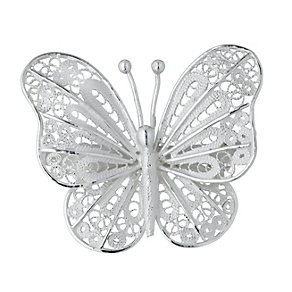 Petali Di Amore Sterling Silver Butterfly Brooch - Product number 1362143