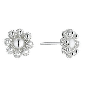 Petali Di Amore Sterling Silver Beaded Flower Earrings - Product number 1362151