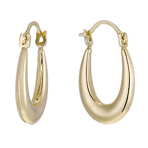 Together Bonded Silver & 9ct Gold Oval Creole Earrings - Product number 1362267