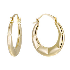 Together Bonded Silver & 9ct Gold Creole Earrings - Product number 1362291