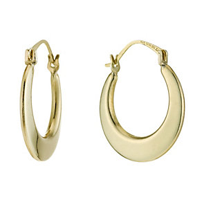 Together Bonded Silver & 9ct Gold Polished Creole Earrings - Product number 1362313