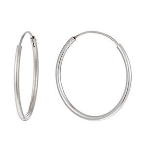 Silver 22mm Sleeper Hoop Earrings - Product number 1362410
