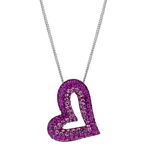 Silver Pink Crystal Heart Pendant - Product number 1362453