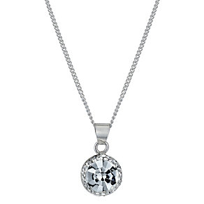 Silver White Crystal Pendant - Product number 1362461