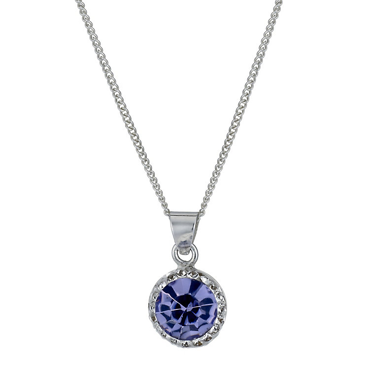 Silver Purple & White Crystal Pendant - Product number 1362488