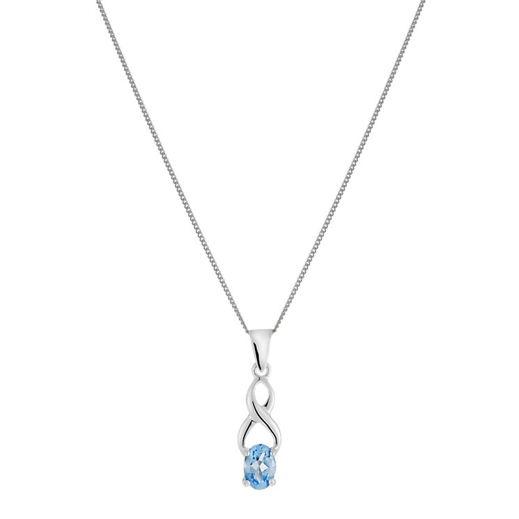 Sterling Silver Blue Topaz Kiss Pendant - Product number 1363034