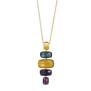 Marco Bicego Murano 18ct yellow gold multi stone necklace - Product number 1363972