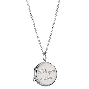 Sterling Silver Children's 'Wish Upon a Star' Locket 14