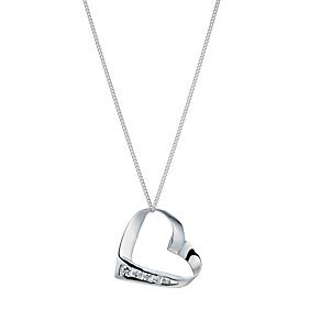 Viva Silver Cubic Zirconia Heart Pendant - Product number 1364235