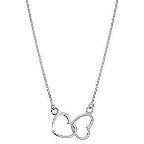 Viva Silver Double Heart Necklace - Product number 1364251