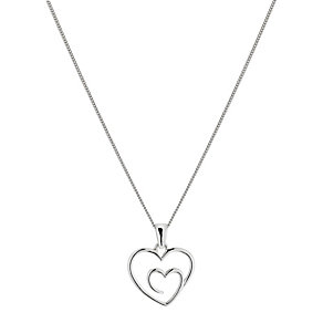 Sterling Silver Double Heart Pendant - Product number 1364359