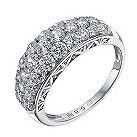 Silver cubic zirconia small domed ring - Product number 1364715
